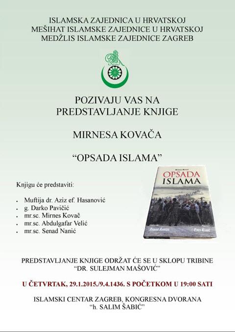 """Poziv na predstavljane knjige """"Opsada Islama"""""""