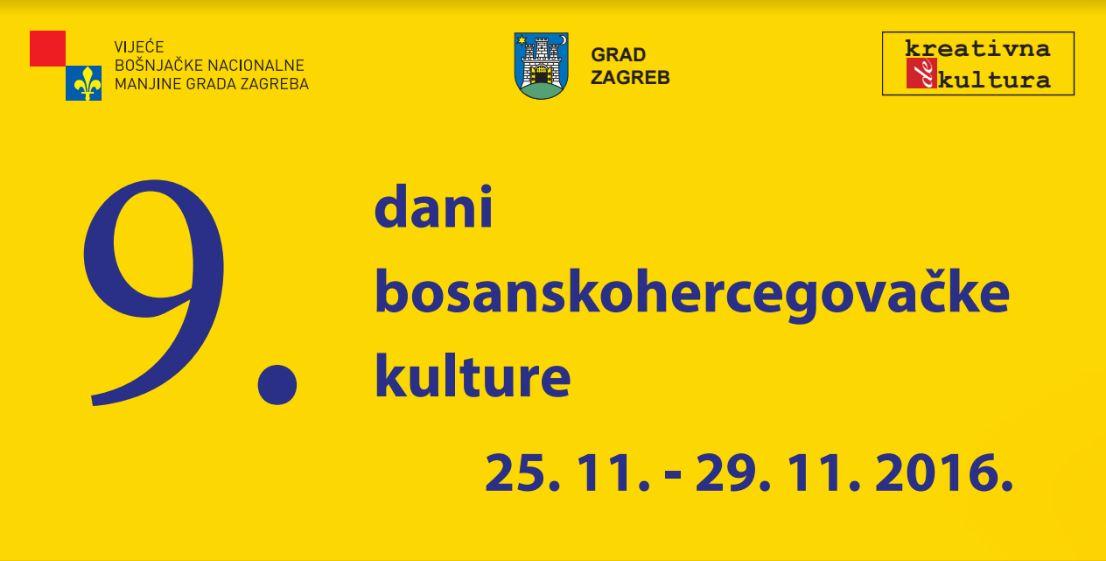 9. dani bosanskohercegovačke kulture u Zagrebu
