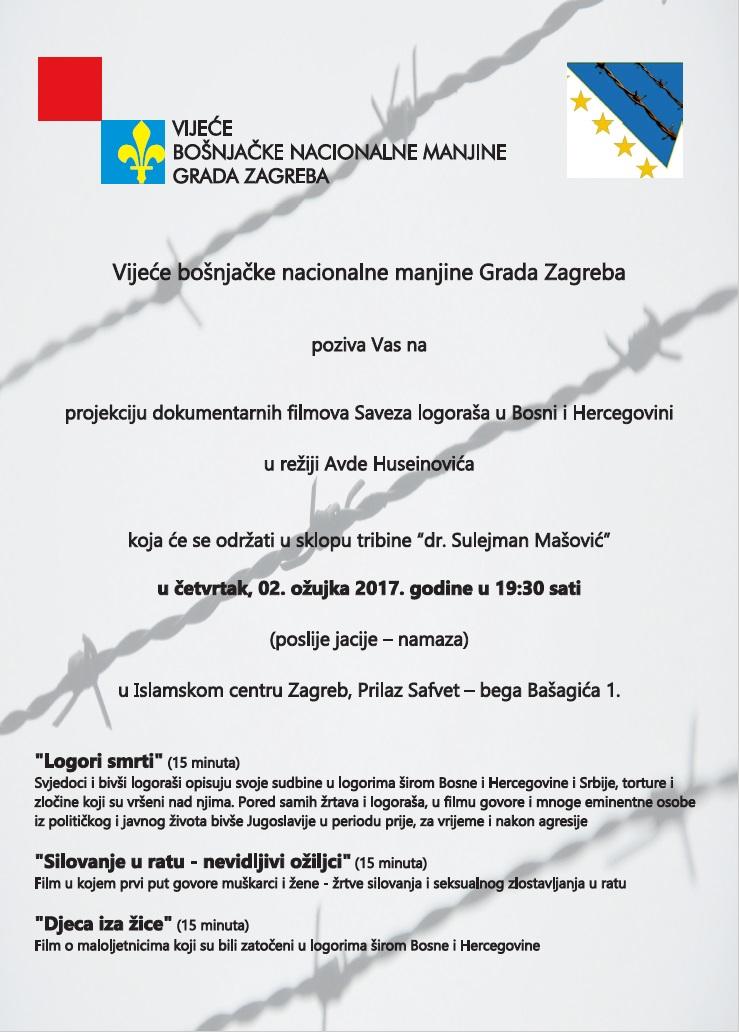 Projekcija dokumentarnih filmova Saveza logoraša u Bosni i Hercegovini