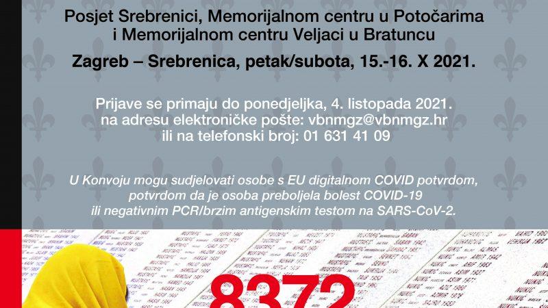 """XV. konvoj mladih Bošnjaka RH i njihovih prijatelja  """"DA SE NIKAD NE ZABORAVI"""""""