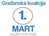"""Čestitka Povodom Godišnjice Osnivanja Građanske Koalicije """" Prvi Mart"""""""