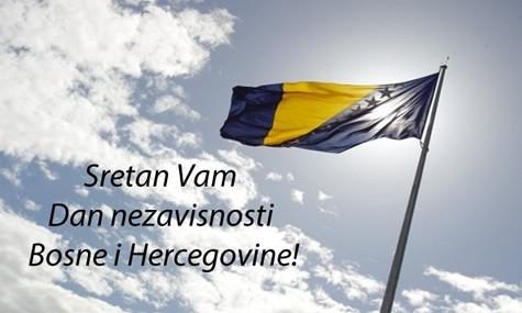 Čestitamo 1. mart / ožujak, Dan nezavisnosti Bosne i Hercegovine