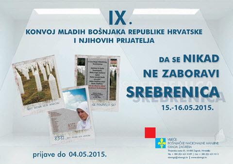 """IX. konvoj mladih Bošnjaka RH i njihovih prijatelja  """"DA SE NIKAD NE ZABORAVI"""" 15-16. svibnja/maja 2015."""