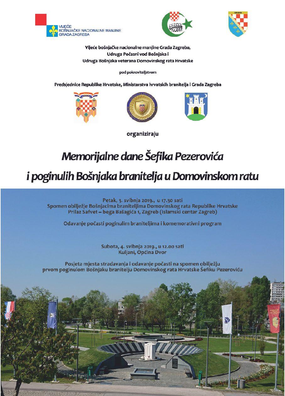 Memorijalni dani Šefika Pezerovića i poginulih Bošnjaka branitelja u Domovinskom ratu