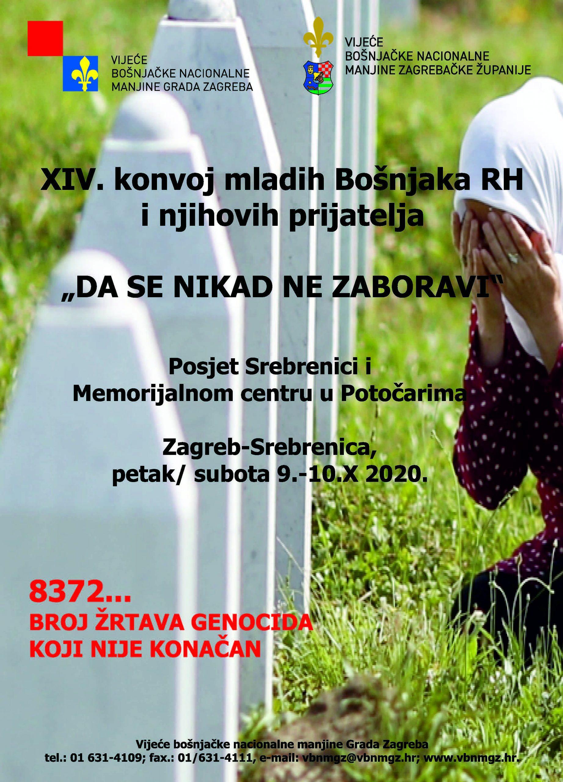 """XIV. konvoj mladih Bošnjaka RH i njihovih prijatelja """"DA SE NIKAD NE ZABORAVI"""""""
