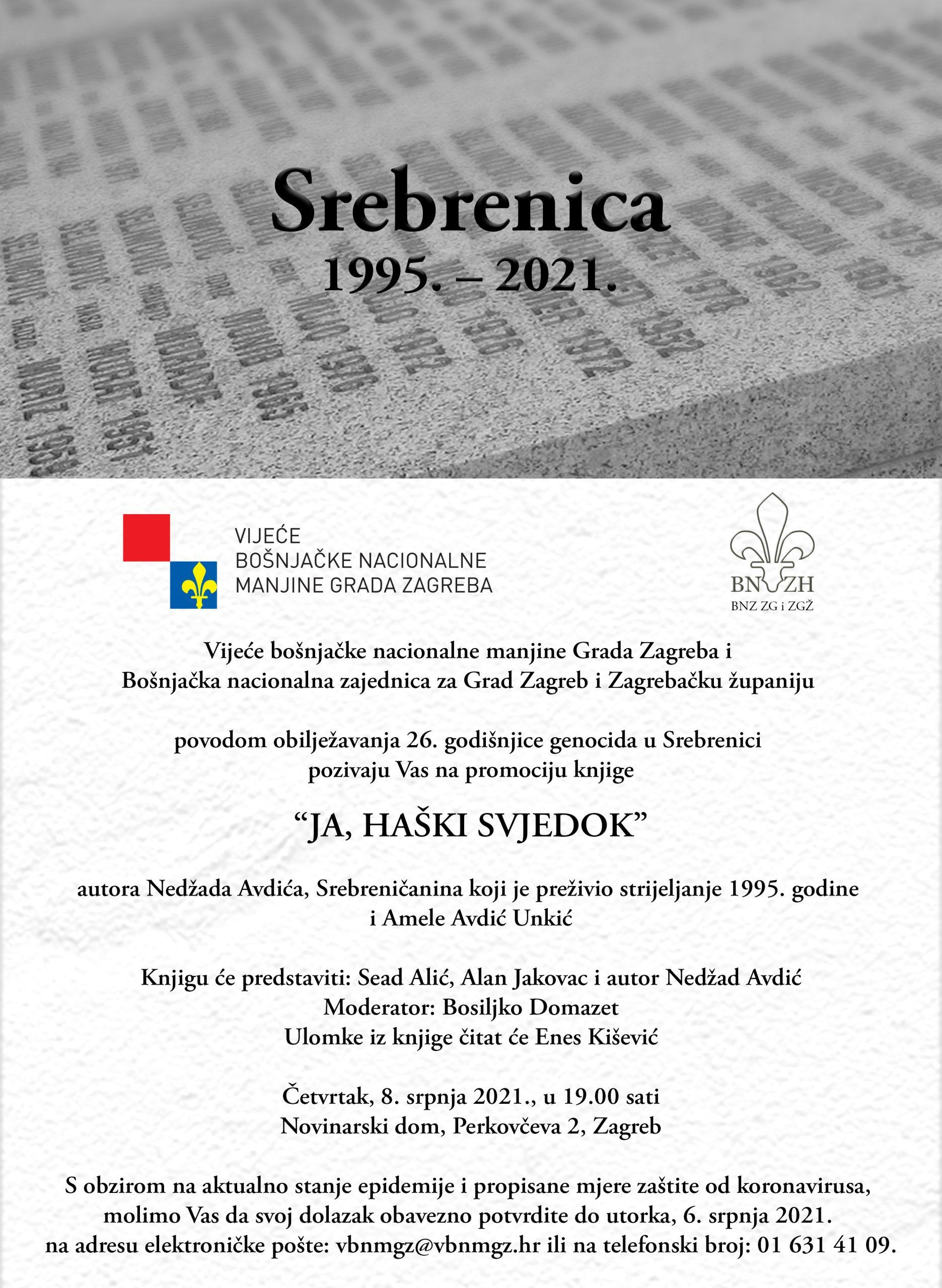 Obilježavanje 26. godišnjice genocida u Srebrenici